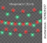 christmas lights. glowing... | Shutterstock .eps vector #529829257