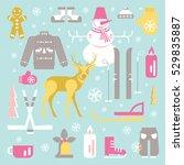 set of unique winter icons...   Shutterstock .eps vector #529835887