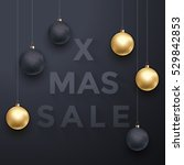 premium luxury christmas sale... | Shutterstock .eps vector #529842853
