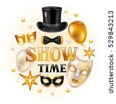 carnival invitation card with... | Shutterstock .eps vector #529843213