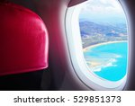 seat and window airplane with... | Shutterstock . vector #529851373