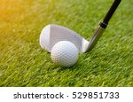 golf club and ball hit swing... | Shutterstock . vector #529851733