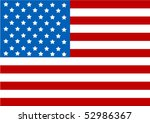 illustration of the usa flag | Shutterstock .eps vector #52986367