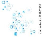abstract background of hexagons ... | Shutterstock .eps vector #529867957