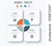 infographics template four... | Shutterstock .eps vector #529871047