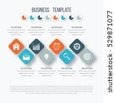 vector square infographics with ... | Shutterstock .eps vector #529871077