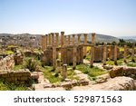 jerash is the site of the ruins ... | Shutterstock . vector #529871563