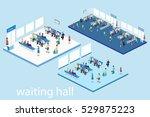 isometric flat 3d concept... | Shutterstock .eps vector #529875223