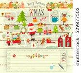 christmas characters on white... | Shutterstock .eps vector #529877503