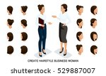 isometric business woman set 4... | Shutterstock .eps vector #529887007
