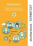 business workshop banner. team... | Shutterstock .eps vector #529887247