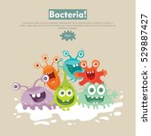 bacteria web banner. group of... | Shutterstock .eps vector #529887427