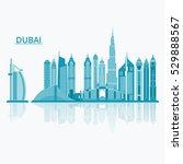 vector illustration of dubai... | Shutterstock .eps vector #529888567