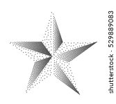 black and white star. abstract... | Shutterstock .eps vector #529889083