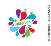 vector logo firework | Shutterstock .eps vector #529892083