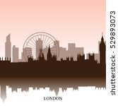 brown cityscape of london with...   Shutterstock .eps vector #529893073