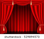 vector premium red curtains in... | Shutterstock .eps vector #529894573