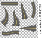 set of bending roads and... | Shutterstock .eps vector #529897837