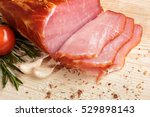 piece of smoked ham with some... | Shutterstock . vector #529898143