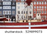 colored houses in front of a... | Shutterstock . vector #529899073