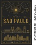 linear travel sao paulo poster... | Shutterstock .eps vector #529902637