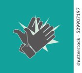 hands clapping vector icons | Shutterstock .eps vector #529907197