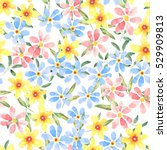 floral seamless pattern with... | Shutterstock . vector #529909813