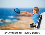 little girl on vacation... | Shutterstock . vector #529910893