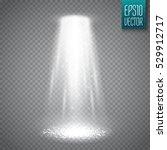 Ufo Light Beam Isolated On...