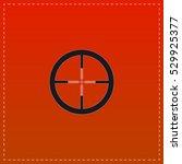target icon vector. black flat...