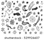 funny doodle stars with space... | Shutterstock .eps vector #529926607