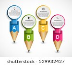 infographics template with... | Shutterstock .eps vector #529932427
