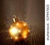Christmas Golden Ball On A...