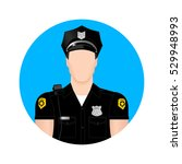 the image of the police as an... | Shutterstock .eps vector #529948993