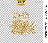 gold glitter vector icon of... | Shutterstock .eps vector #529950853