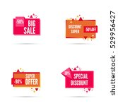 sale banner. vector tag.... | Shutterstock .eps vector #529956427