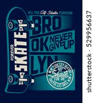skate board vector and  t shirt ... | Shutterstock .eps vector #529956637