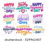 happy valentine s day card.... | Shutterstock .eps vector #529961407