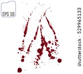set of various blood or paint... | Shutterstock .eps vector #529965133