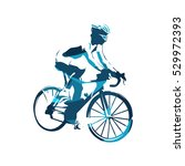 road cycling  abstract blue... | Shutterstock .eps vector #529972393