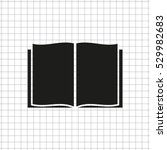 open book    black vector icon | Shutterstock .eps vector #529982683