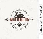 vintage wild emblem. retro... | Shutterstock .eps vector #529985623