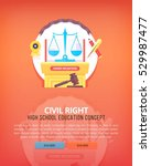 civil law. education and... | Shutterstock .eps vector #529987477