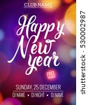 new year party design banner.... | Shutterstock .eps vector #530002987