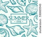 sea shell summer time marine... | Shutterstock .eps vector #530005543