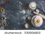 the process of baking  cooking. ... | Shutterstock . vector #530006803