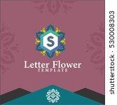 letter s flowers logo design... | Shutterstock .eps vector #530008303