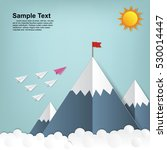leadership concept with paper... | Shutterstock .eps vector #530014447