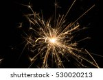 burning sparklers isolated on... | Shutterstock . vector #530020213