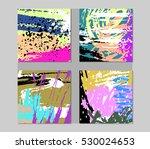 set of stylish fun invitation... | Shutterstock .eps vector #530024653
